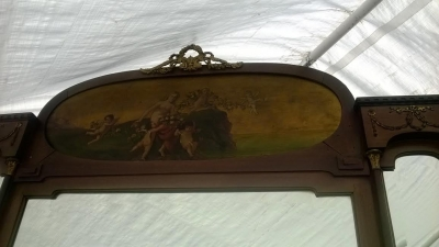 14D10010 ITALIAN MAHOGANY PEER MIRROR HALL TREE  (12).jpg