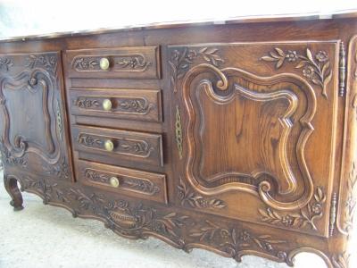 13A31068 Dark Oak Louis XV Sideboard  (2).JPG
