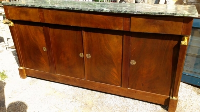 14E EMPIRE MARBLE TOP SIDEBOARD