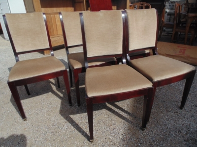 SOLD!   14B15036 SET OF 6 MAHOGANY CHAIRS (1)