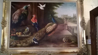 15A06121 FRAMED BIRDS OIL PAINTING  (1).jpg