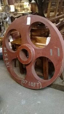 36-84723 OLD LARGE PAINTED INDUSTRIAL MOLD .jpg