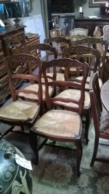 15A12113 SET OF 6 LOUIS XV DARK OAK RUSH SEAT CHAIRS (1).jpg