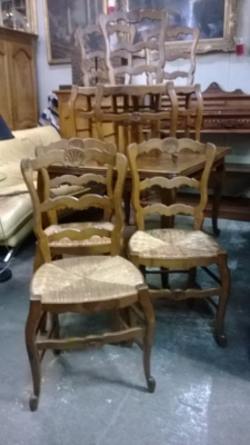 15A12115 SET OF 6 LOUIS XV RUSH SEAT CHAIRS (1).jpg