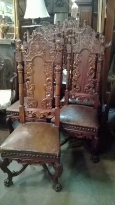 15A12125 SET OF 6 COAT OF ARMS CHAIRS (1).jpg