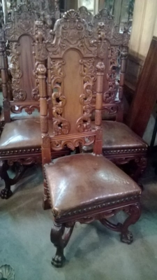 15A12125 SET OF 6 COAT OF ARMS CHAIRS (4).jpg