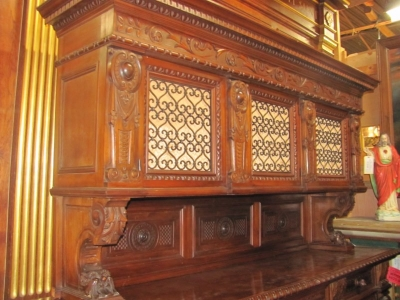 15A12131 LARGE ITALIAN WALNUT BUFFET (6).JPG