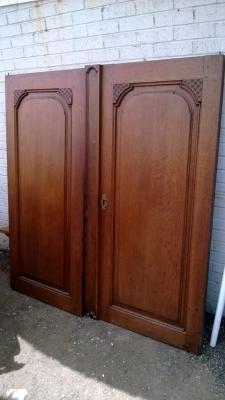 french oak cabinet doors 19th century