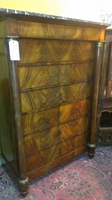 14k28050 tall Empire Marble top Chest 19th Century (1).jpg