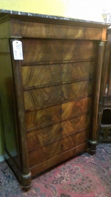 14k28050 tall Empire Marble top Chest 19th Century (4).jpg