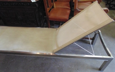 $95.00    14C10633 MODERN STAINLESS POOL BENCH KINSLEY AND BATE (4)