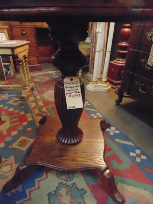 36  83625 TIGER OAK PEDESTAL LAMP TABLE
