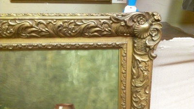 15A23009 INCREDIBLE HUGE GAME PAINTING WITH ORNATE FRAME AND EXCEPTIONAL DETAIL (2).jpg