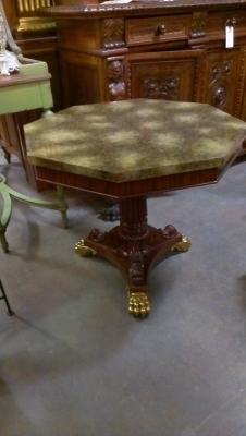15A23514 FAUX MARBLE TOP ORNATE BASE CENTER TABLE  (1).jpg
