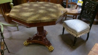 15A23514 FAUX MARBLE TOP ORNATE BASE CENTER TABLE  (2).jpg
