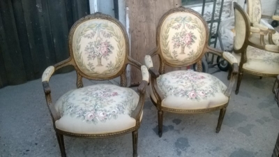 15A23519-20 2 PAIRS OF OVERSIZE LOUIS XVI FLORAL EMBROIDERY ARM CHAIRS (3).jpg