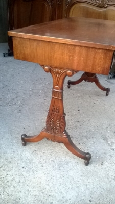 15A23522 MAHOGANY 3 DRAWER LEATHER TOP CONSOLE (3).jpg