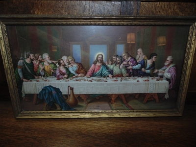 14C24477 SMALL VERY COLORFUL LAST SUPPER PRINT
