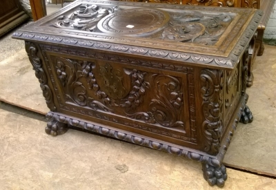 15A23 HIGHLY CARVED FRENCH COFFER (2).jpg