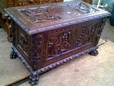 15A23 HIGHLY CARVED FRENCH COFFER (4).jpg