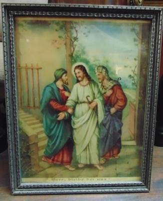 14C24482 ROAD TO EMMAUS PRINT SMALL BUT VERY COLORFUL