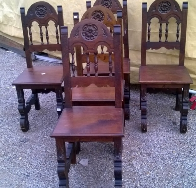 15A23 SET OF 5 SPANISH CHAIRS (3).jpg