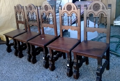 15A23 SET OF 5 SPANISH CHAIRS (8).jpg