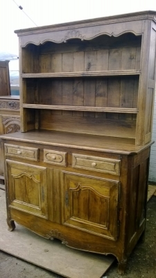 15A23EARLY LOUIS XV OAK VASSILIER WITH 2 DRAWERS  (1).jpg