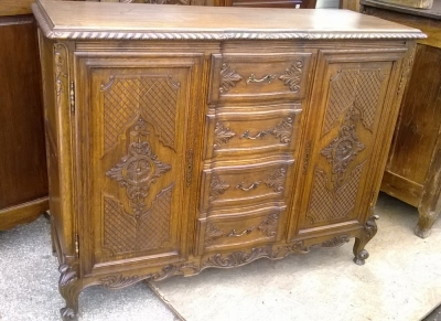 15A23004 SMALL LOUIS XV CARVED 4 DRAWER SERVER (1).jpg