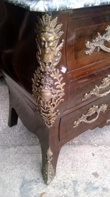 15A23005 GREY MARBLE TOP LOUIS XV BOMBE COMMODE (4).jpg