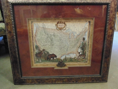 14C24 UNITED STATES MAP ART