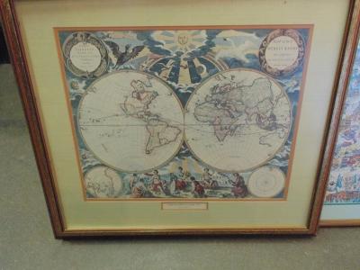 14C24 WORLD MAP PRINT
