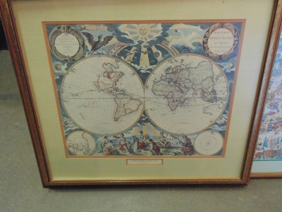 14C24 WORLD MAP PRINT