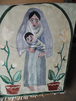 14C24470 TAPESTRY OF MARY AND BABY JESUS