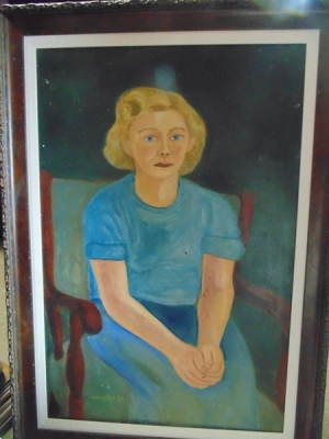 14C24472 CONS. JAMES RAY OIL PAINTING OF GIRL