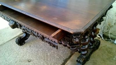 15B06039 DARK OAK MECHELLIN LIBRARY TABLE WITH BARLEY TWIST (5).jpg