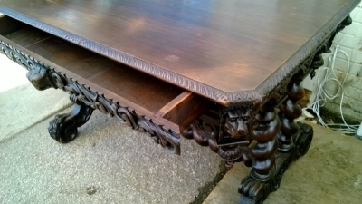 15B06039 DARK OAK MECHELLIN LIBRARY TABLE WITH BARLEY TWIST (5).jpg