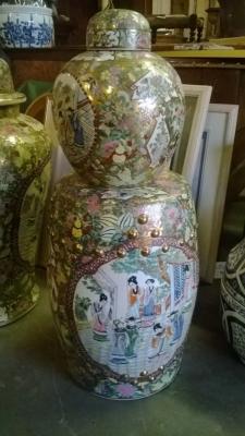 GINGER JAR AND ASIAN GARDEN STOOL.jpg