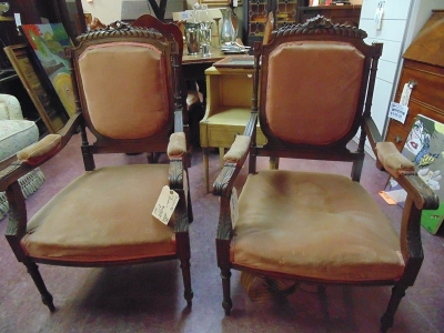 13J24013 PAIR LOUIS XVI CHAIRS $199.00 PAIR