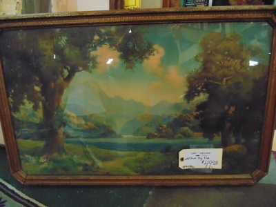 SOLD !!!     13K110508 OLD LANDSCAPE PRINT BY FOX  $39.00