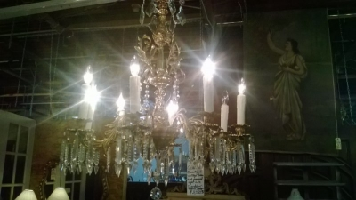36-67179 BRONZE AND CRYSTAL CHANDELIER  (1).jpg