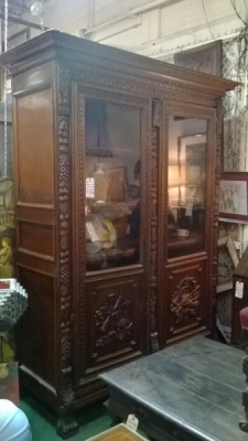 36-85309 ANTIQUE FRENCH CARVED BOOKCASE (1).jpg