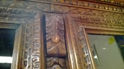 36-85309 ANTIQUE FRENCH CARVED BOOKCASE (3).jpg