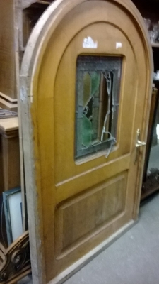 15C03021 ARCHED HOBBIT DOOR WITH STAINED GLASS WINDOW.jpg