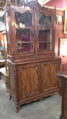 15C03032  MAHOGANY GLASS DOOR CABINET   (15).jpg