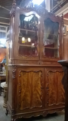 15C03032  MAHOGANY GLASS DOOR CABINET   (16).jpg