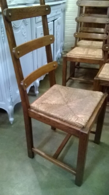 15C03043 SET OF 6 RUSTIC OAK LADDER BACK CHAIRS (2).jpg