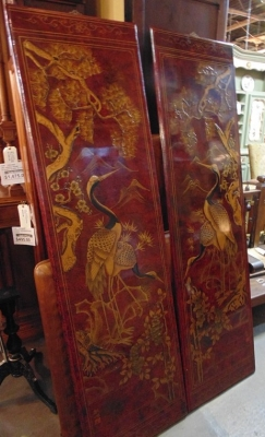 14C24552 PAIR ASIAN LAQUER SCREENS NOT OLD (3)