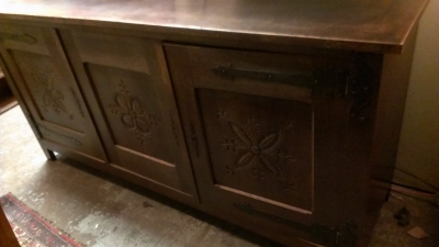 15C03056 CARVED RUSTIC SIDEBOARD WITH STRAP HINGES  (2).jpg