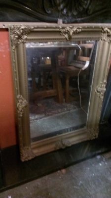 SMALL GILT BEVELED GLASS MIRROR.jpg